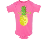 Rockaway Pineapple Hot Pink Baby Onesie