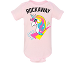 Rockaway Rad Unicorn Light Pink Baby Onesie
