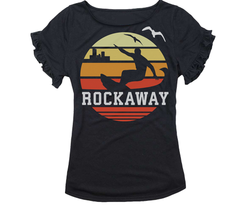 Rockaway Orange Sunrise Girls Ruffle Tee