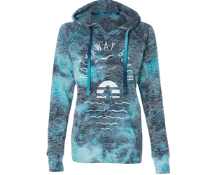 Rockaway Sea Mermaid Fleece Tie Dye Blue Sweatshirt