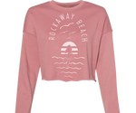 Rockaway Sea Mermaid Mauve Crop Fleece