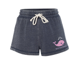 Rockaway Whale Navy Fleece Shorts