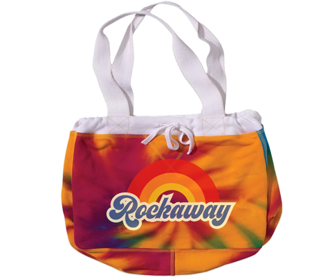 Load image into Gallery viewer, Rockaway Rainbow Fleece Tie Dye Beach Bag