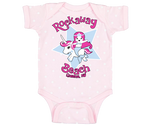 Rockaway Unicorn Mermaid Pink Polka Dot Baby Onesie