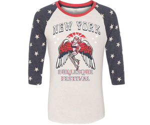New York Burlesque Festival 2019 Star Raglan Shirt