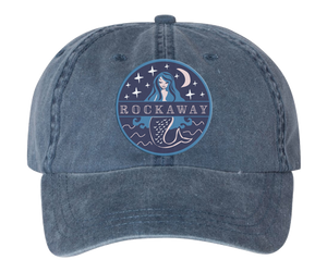 Load image into Gallery viewer, Rockaway Starlight Mermaid Embroidered Denim Hat