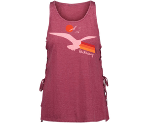 Rockaway Seagull Sunset Maroon Lace Side Tank