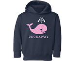 Rockaway Whale Navy Blue Fleece Kids Hoodie