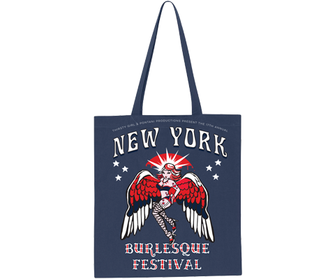 New York Burlesque Festival 2019 Navy Tote Bag