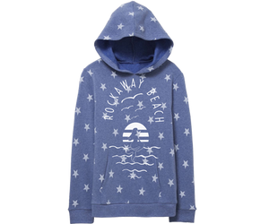 Starry Sea Mermaid Kids Fleece Sweatshirt