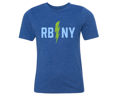 Rockaway Bolt Medium Blue Kids Tee
