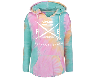 Load image into Gallery viewer, Rockaway Surfer X Sherbet Tie Dye Fleece Hoodie
