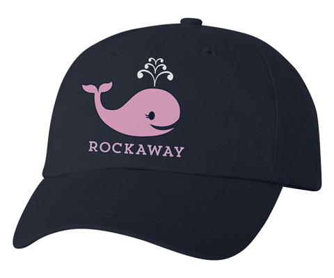 Load image into Gallery viewer, Rockaway Pink Whale Navy Hat