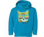 Rockaway Beach Rad Cat Fleece Kids Sweatshirt