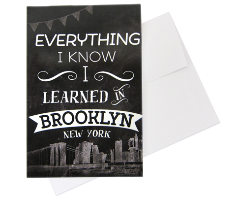 Learned in Brooklyn Note Cards