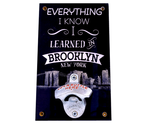 Learned in Brooklyn Wall Bottle Opener