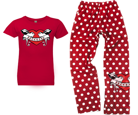 Polka Dot Lovebirds Kids Pajama Set