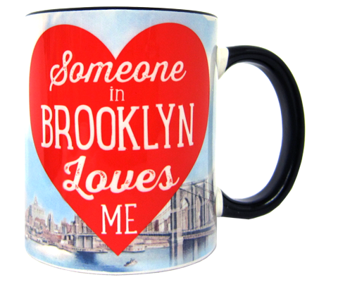 Someone in Brooklyn Loves Me Heart Mug