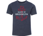 Made in Brooklyn Heather Blue Youth Tee