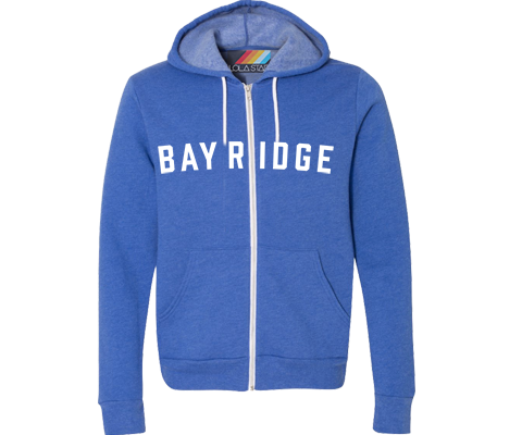 Youth Brooklyn Neighborhood Bright Blue Hoodie - Lots of Neighborhoods Available!