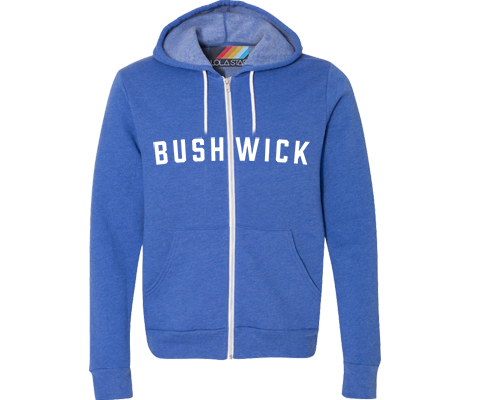 Brooklyn Neighborhood Bright Blue Hoodie- Lots of Neighborhoods Available!