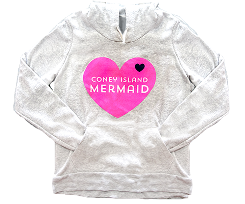Coney Island Mermaid Heart Hoodie