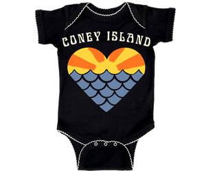 Coney Island Mermaid Sunset Navy Onesie