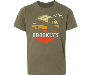 Brooklyn Orange Sunrise Youth Tee