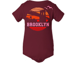 Brooklyn Orange Sunrise Maroon Onesie