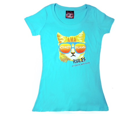Rad Cat Aqua Scoop Neck Tee