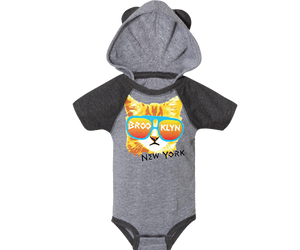 Load image into Gallery viewer, Rad Cat Onesie with Ears on Hood