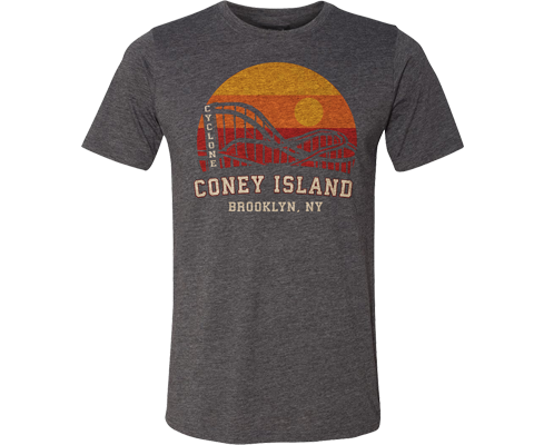 Rainbow Cyclone Adult Tee in Gray
