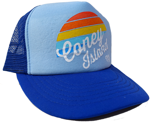 Rainbow Surfer Coney Island Trucker Hat
