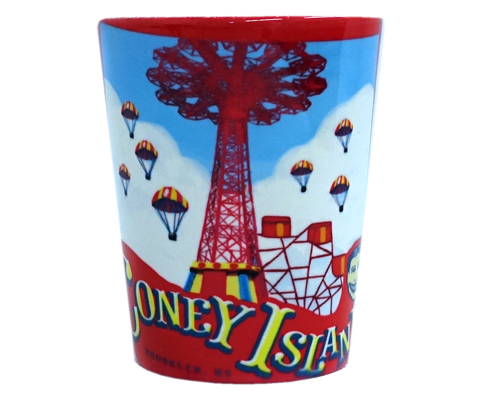 Red Parachute Drop Shot Glass