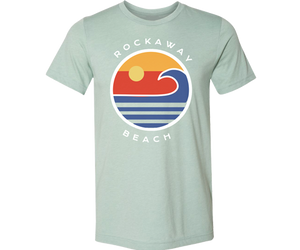 Load image into Gallery viewer, Rockaway Globe Adult Tee in Light Sea Green