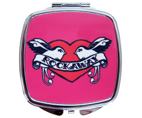 Rockaway Lovebirds Compact Mirror