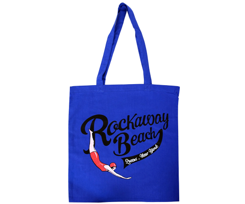 Rockaway Swimmer Blue Tote Bag