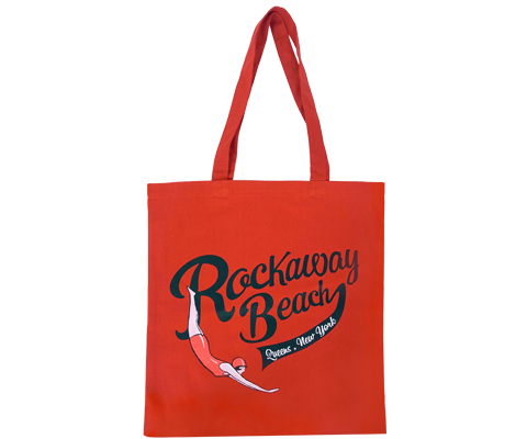 Rockaway Swimmer Red Tote Bag