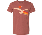 Seagull Sunset Adult Tee in Clay