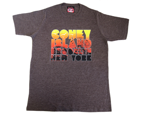 Coney Island Sunset Adult Tee