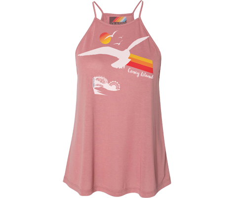 Seagull Sunset Mauve Tank Top