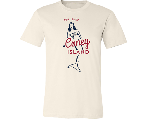 Load image into Gallery viewer, * Surfer Mermaid Adult Tee in Natural