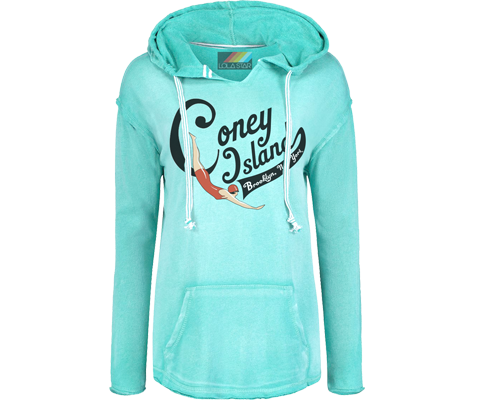 Load image into Gallery viewer, Coney Island Swimmer Super Soft Fleece Hoodie