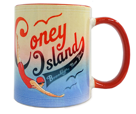 Coney Island Swimmer Mug