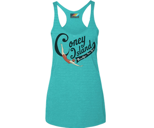 Load image into Gallery viewer, * Coney Island Swimmer Aqua Tank Top