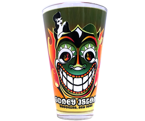 Tiki Tillie Pint Glass