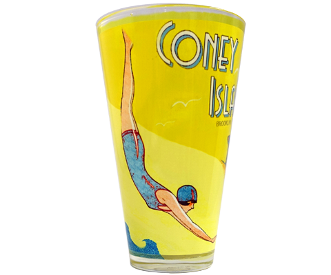 Vintage Swimmer Pint Glass