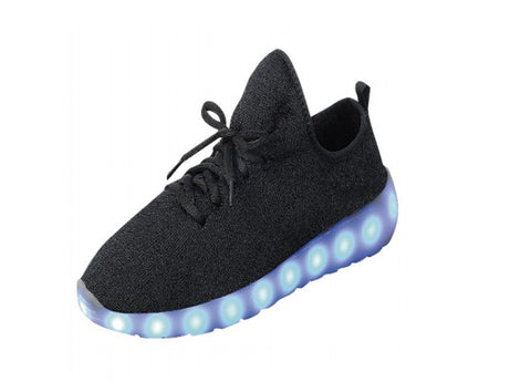 USB LED  Link shoes Black (Bigger sizes)