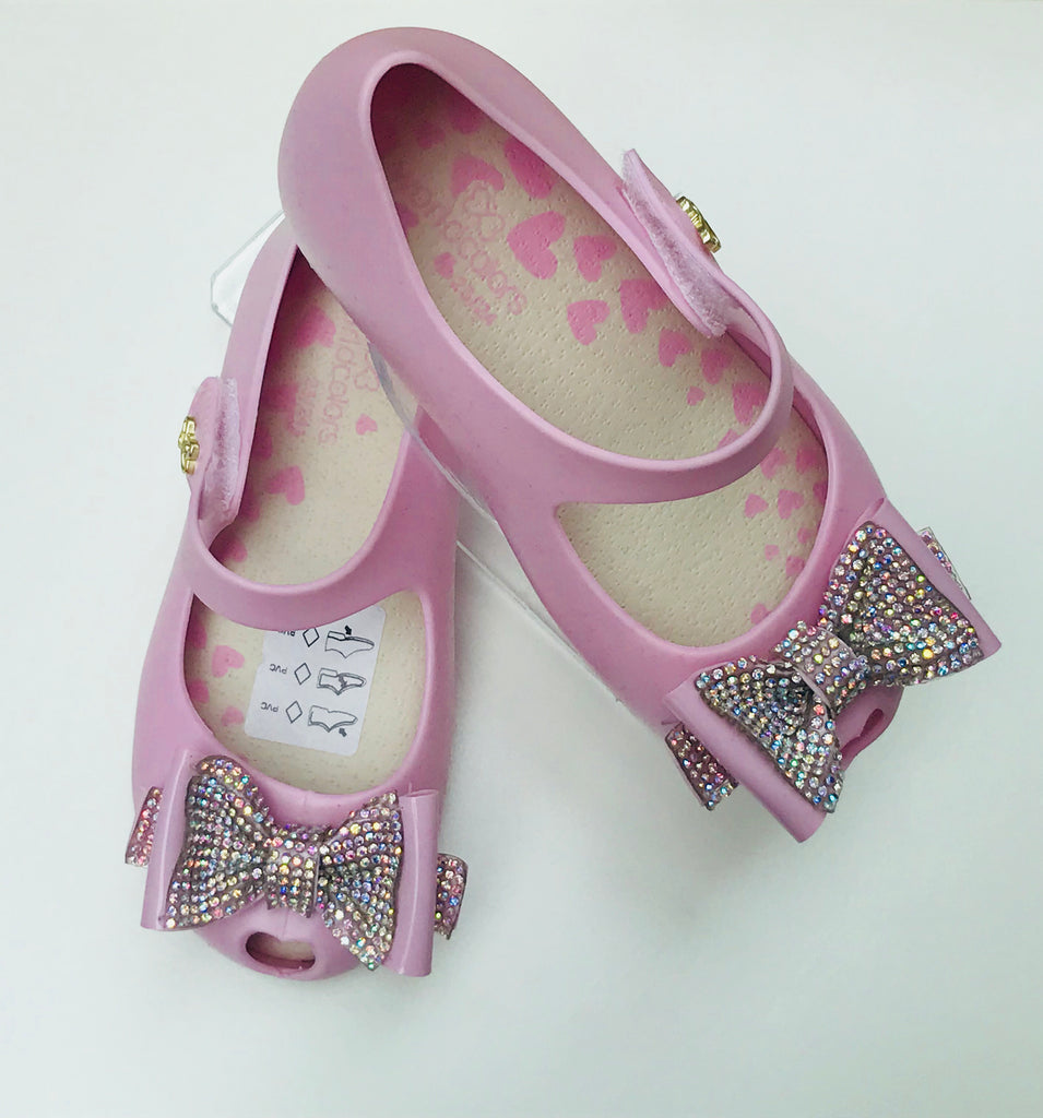 0e1790d18ba5 World Colors Crystal Bow Pink – Jelly Sandals