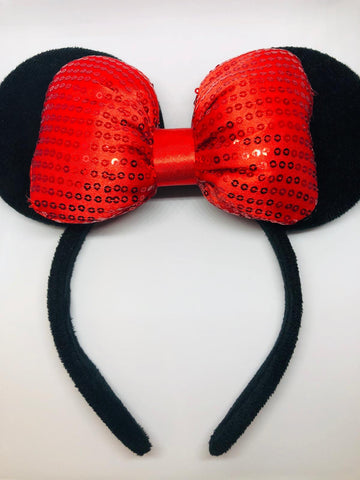 Minnie Mouse personalized ears.